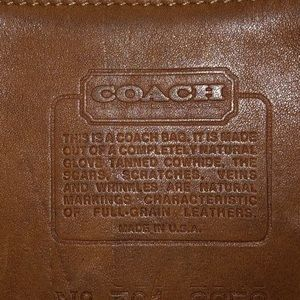 Vintage genuine leather Coach purse
